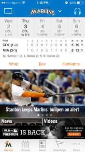 At Bat App Marlins