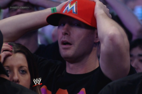 Marlins Fan at Wrestlemania 2014