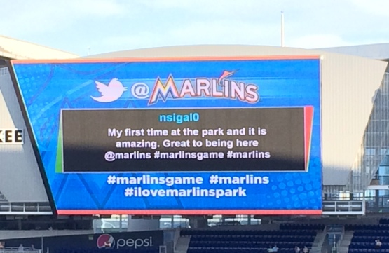 Marlins Twitter Jumbo Screen Marlins Park