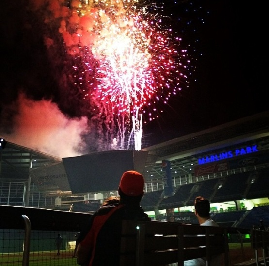 Friday Fireworks Marlins Park