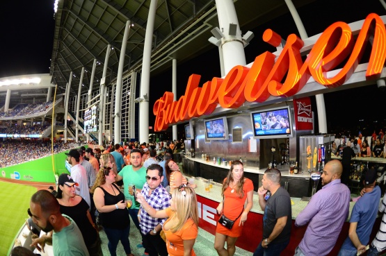 Budweiser Bow Tie Bar Marlins Park