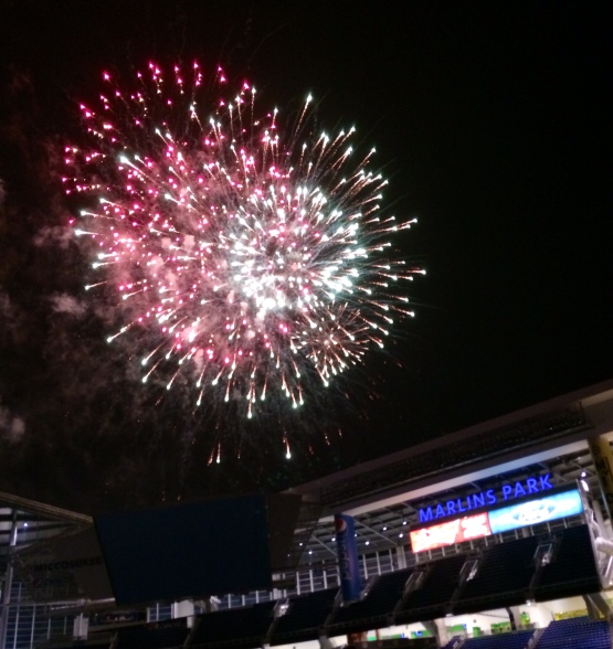 Friday Fireworks at Marlins Park