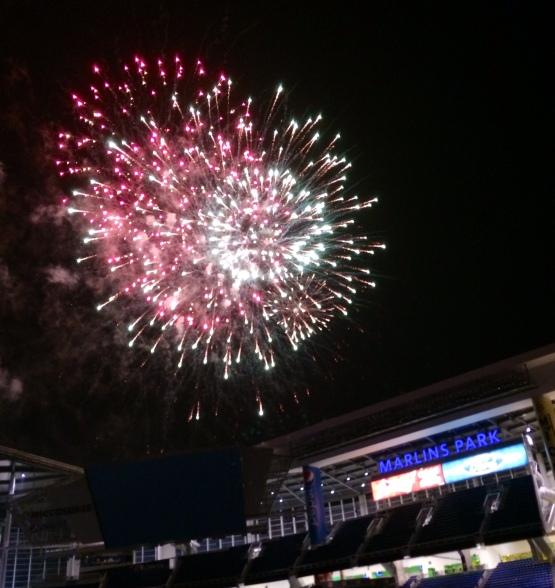 Marlins Park Fireworks