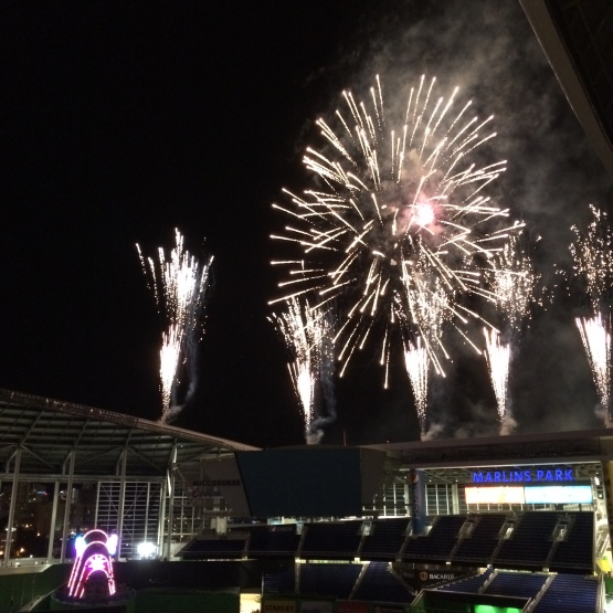 Fireworks Friday Marlins Park
