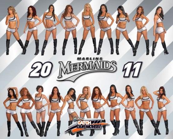 Stef and Adriana - Marlins Mermaids - Pitbull dancers