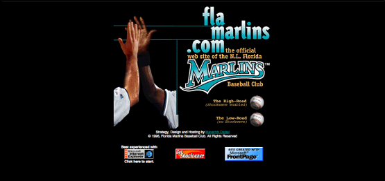 Marlins Website in 1997 - Florida Marlins - Miami Marlins