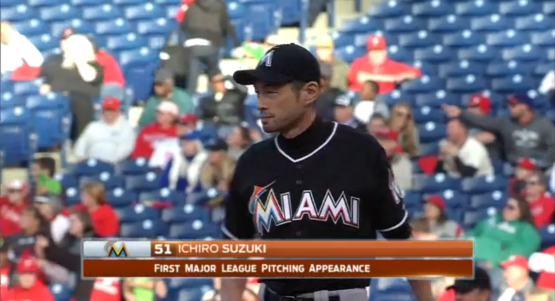 Marlins Position Players to Pitch Miami Marlins Ichiro